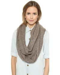 Alice + Olivia Alice  Olivia Sequin Infinity Scarf - Tan - Lyst