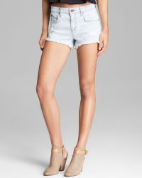 Joe's Jeans Shorts High Rise Cutoff in Luna - Lyst
