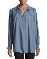Joie Westward Lawn Halfbutton Blouse - Lyst