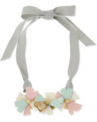 Marc By Marc Jacobs - Large Bouquet Ribbon Necklace Graygreenpink - Lyst