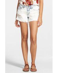 Volcom - Distressed Denim Shorts - Lyst