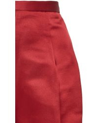 Katie Ermilio - Rusted Rose Satin Matchstick Pant - Lyst