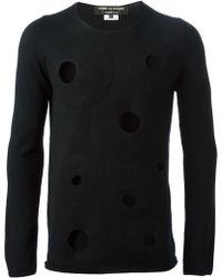 Comme Des Garçons Hole Details Sweater - Lyst