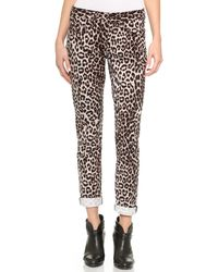 Rag & Bone The Boyfriend Jeans - Snow Leopard - Lyst