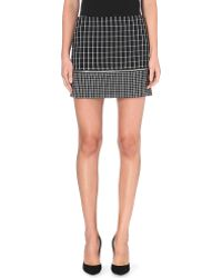 Michael by Michael Kors Mini Geometricprint Skirt Black - Lyst