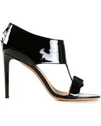 Ferragamo Black Pella Sandals - Lyst