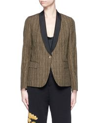 Ibrigu - One Of A Kind Variegated Pinstripe Wool Blazer - Lyst