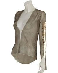 Aurelie Demel - Chainmail Embellished Sweater - Lyst