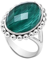 Lagos 'Maya' Oval Doublet Ring - Malachite green - Lyst
