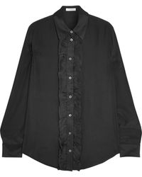 Equipment Blake Ruffled Washed-Silk Shirt - Lyst