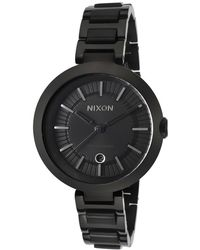 Nixon Womens Tessa Black Ip Steel and Dial - Lyst