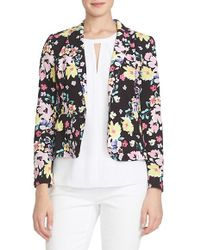 Cece by Cynthia Steffe - Floral Print One-button Jacket - Lyst