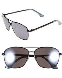 Isaac Mizrahi New York - 58mm Aviator Sunglasses - Lyst