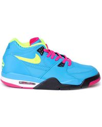 Nike Air Flight 89 Blue/Volt-Fireberry blue - Lyst
