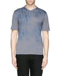 Armani Sky Block Print T-Shirt - Lyst