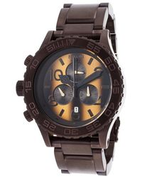 Nixon Men'S 42-20 Chrono Brown Ion Plated Stainless Steel Tiger'S Eye Dial - Lyst