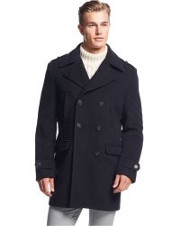 CALVIN KLEIN 205W39NYC - Montreal Solid Slim-fit Peacoat - Lyst