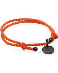 Bottega Veneta Braided Leather Charm Bracelet - Lyst