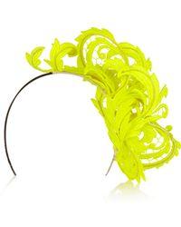 Philip Treacy Neon Guipure Lace Headpiece - Lyst