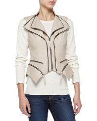 Dawn Levy Silvi Leather Zip-off Peplum Vest - Lyst