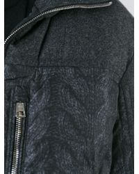 Moncler Hooded Padded Jacket gray - Lyst