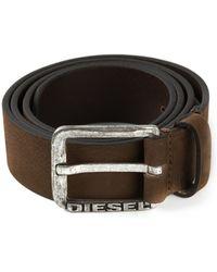 Diesel Logo Buckle Belt - Lyst