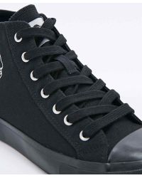 Cheap Monday - Base Canvas High-Top Trainers In Black - Lyst