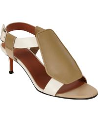Givenchy Colorblock Geo Pad Sandals - Lyst