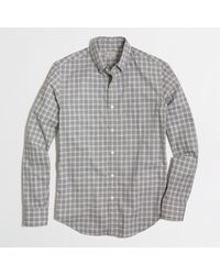 J.Crew Factory Heathered Plaid Shirt - Lyst