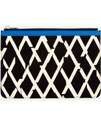 Proenza Schouler Ivory and Black Canvas Zip Pouch - Lyst