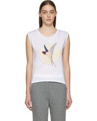 Stella McCartney White Hummingbird T_shirt - Lyst