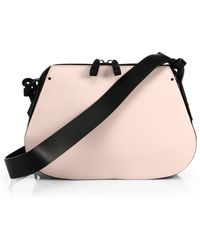 Valentino Covered Two-Tone Leather Shoulder Bag - Lyst