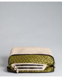 orYANY - Khaki And Black Leather 'Athena' Buckle Convertible Clutch - Lyst