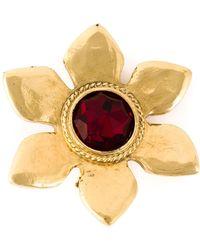 Yves Saint Laurent Vintage Flower Gem Earrings - Lyst