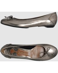Chloé Ballet Flats gold - Lyst