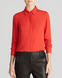 Vince Shirt - Button Down Silk - Lyst