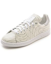 Adidas Originals x Opening Ceremony Stan Smith Fingerprint Sneakers - Whitewhitesolid Grey - Lyst
