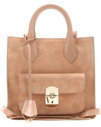 Balenciaga Padlock Mini All Afternoon Suede Tote - Lyst