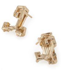 Noritamy - Gold Stud Earrings - Lyst