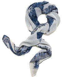 Tory Burch Painted Hash Double Sided Scarf - Lyst