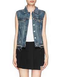 Rag & Bone Burney Denim Vest Jacket - Lyst