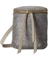 Cole Haan Silver Bethany Crossbody - Lyst