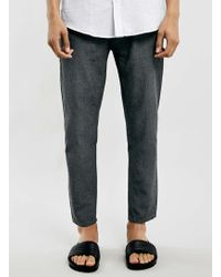 Topman Grey Cropped Skinny Chinos - Lyst