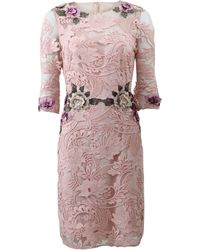 Notte by Marchesa | Embellished Floral-Lace Dress  | Lyst