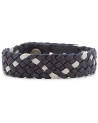 Gorjana & Griffin Finn Leather Bracelet Blue - Lyst
