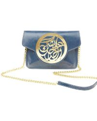 Dareen Hakim Le Icon Pochette Denim Blue - Lyst