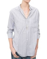 MiH Jeans Slouch Shirt gray - Lyst
