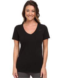 Nike Dri-Fit™ Cotton V-Neck Short Sleeve Tee - Lyst