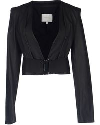 Balmain Leather Outerwear - Lyst