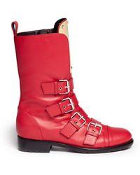 Giuseppe Zanotti Cobain Metal Plate Motorcycle Boots - Lyst